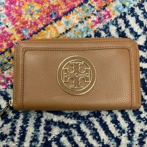 Tory Burch Cognac Brown Wallet